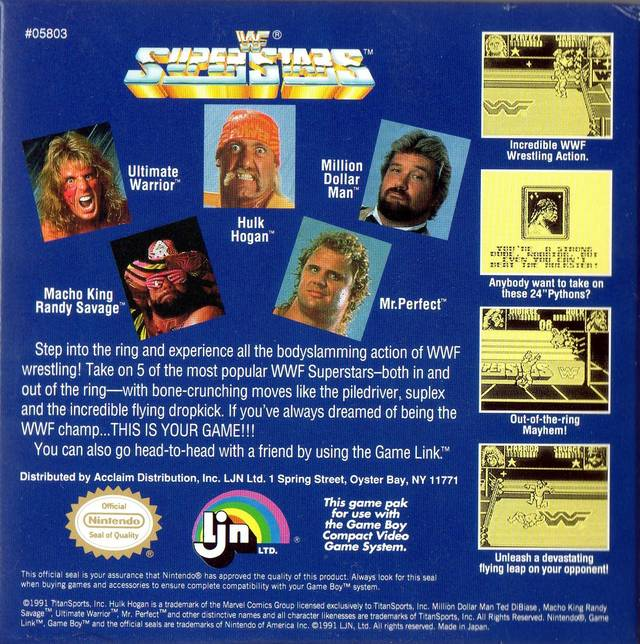 WWF Superstars - Game Boy | Retro1UP Game