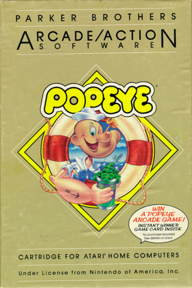 Popeye - Atari 8-bit | Retro1UP Game