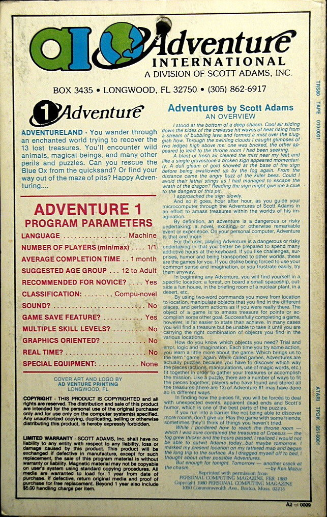 Adventureland - Atari 8-bit | Retro1UP Game
