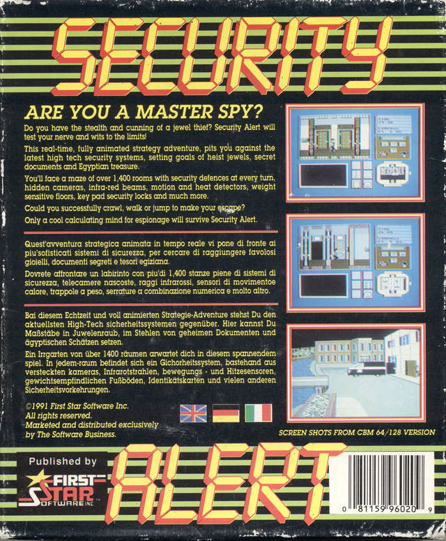 Security Alert - Commodore 64 | Retro1UP Game