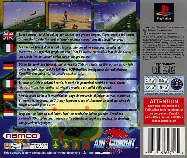 Air Combat - PlayStation | Retro1UP Game