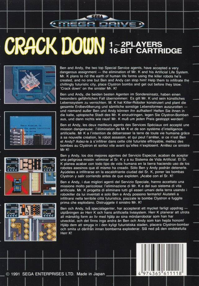 Crack Down - Genesis | Retro1UP Game