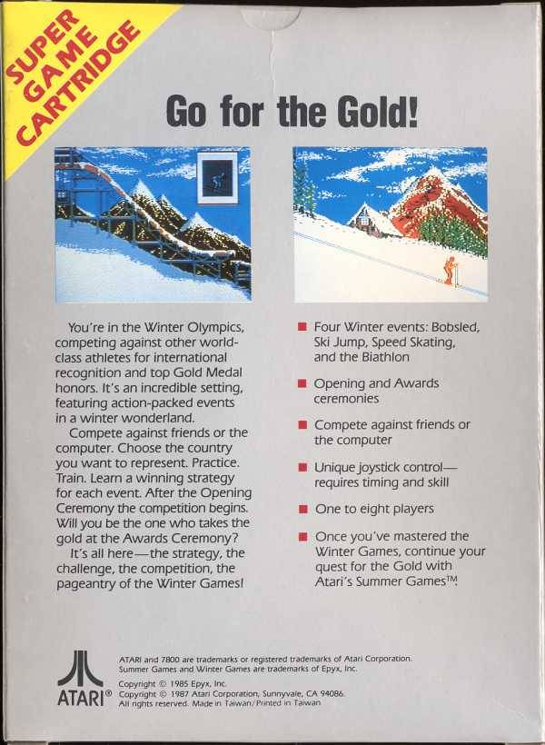 Winter Games - Atari 7800 | Retro1UP Game