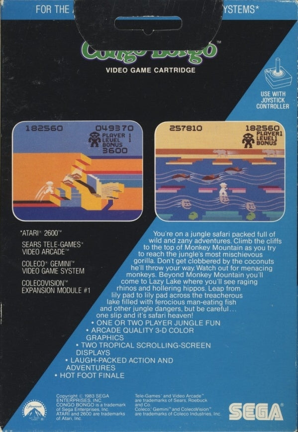 Congo Bongo - Atari 2600 | Retro1UP Game