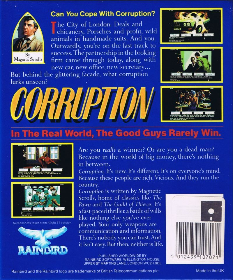 Corruption - Commodore 64 | Retro1UP Game