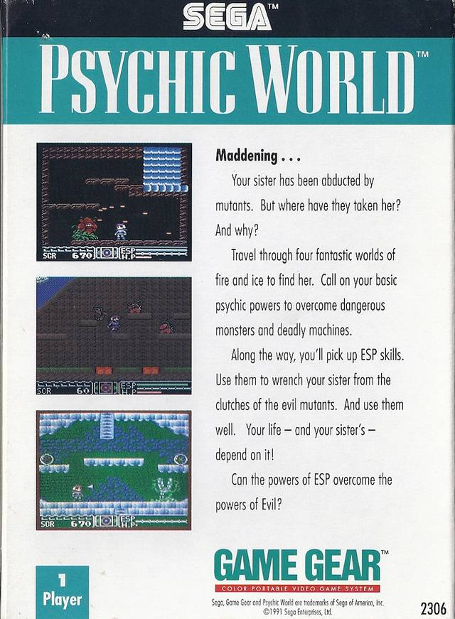 Psychic World - GameGear | Retro1UP Game