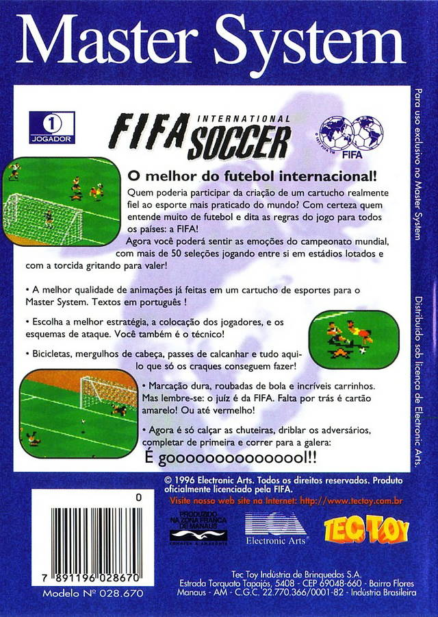 FIFA International Soccer - Sega Master System | Retro1UP Game