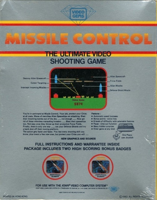 Missile Control - Atari 2600 | Retro1UP Game