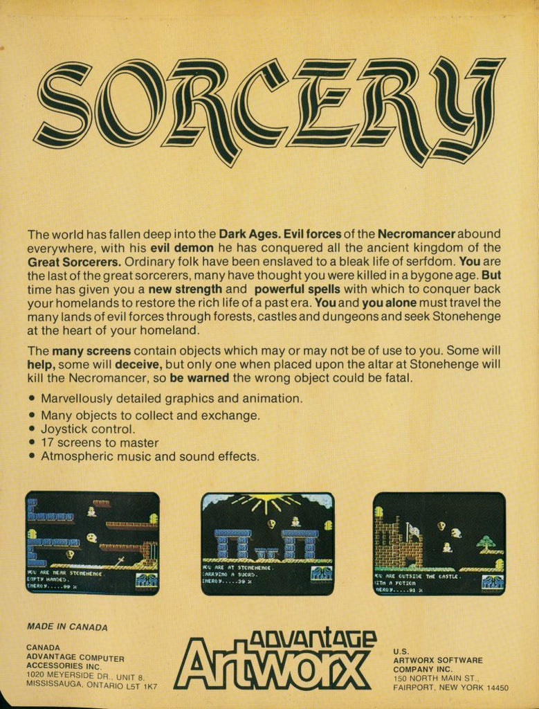 Sorcery - Commodore 64 | Retro1UP Game