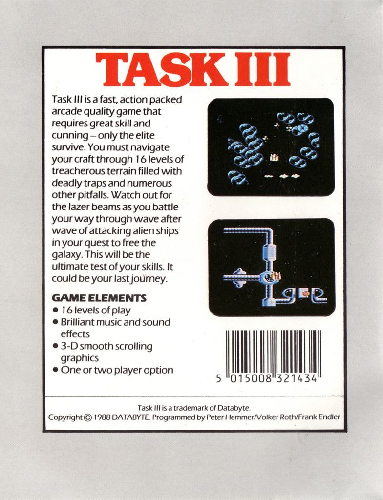 Task III - Commodore 64 | Retro1UP Game
