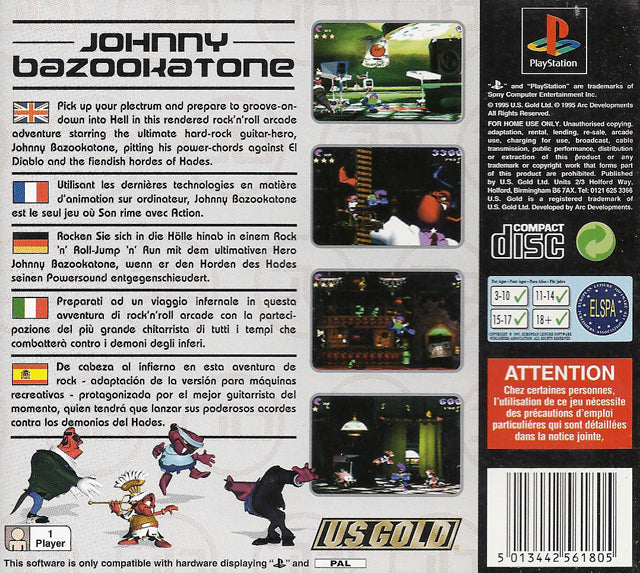 Johnny Bazookatone - PlayStation | Retro1UP Game
