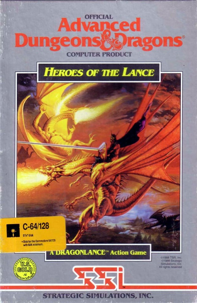 Heroes of the Lance - Commodore 64 | Retro1UP Game