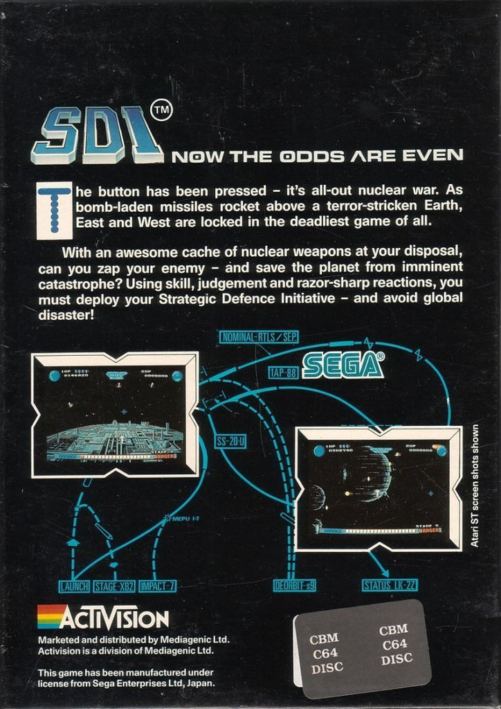 SDI - Commodore 64 | Retro1UP Game