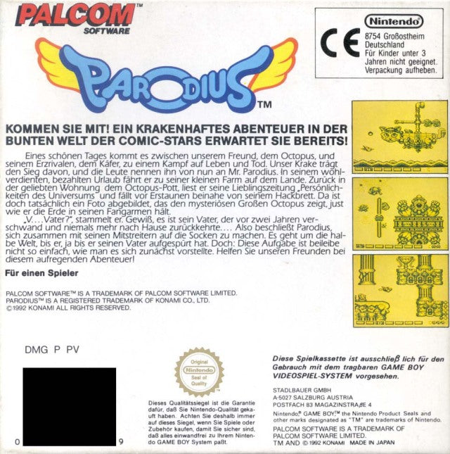 Parodius - Game Boy | Retro1UP Game