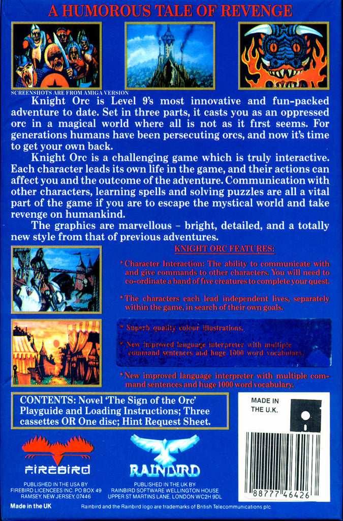 Knight Orc - Commodore 64 | Retro1UP Game