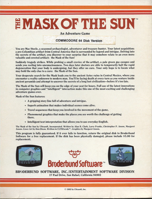 The Mask of the Sun - Commodore 64 | Retro1UP Game