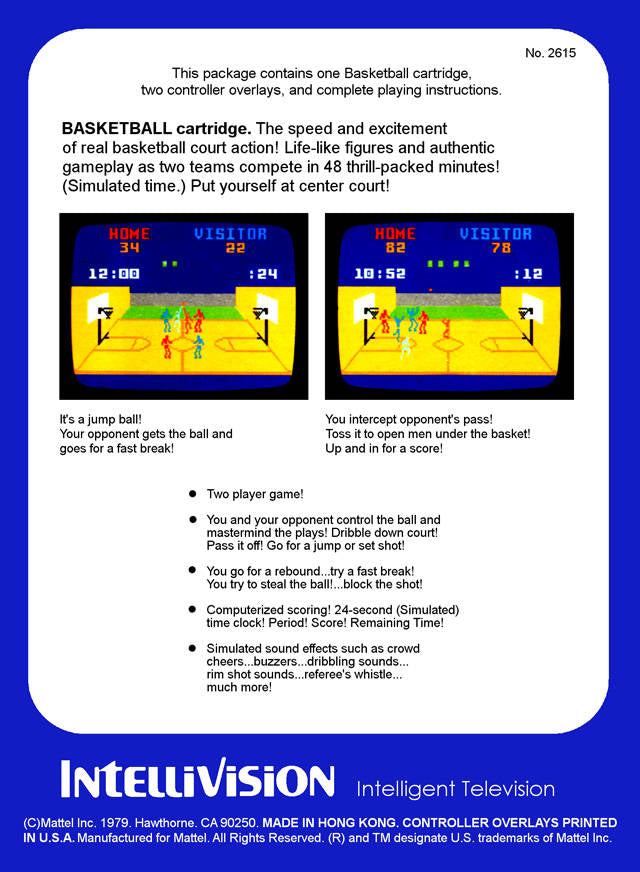Basketball - Intellivision | Retro1UP Game