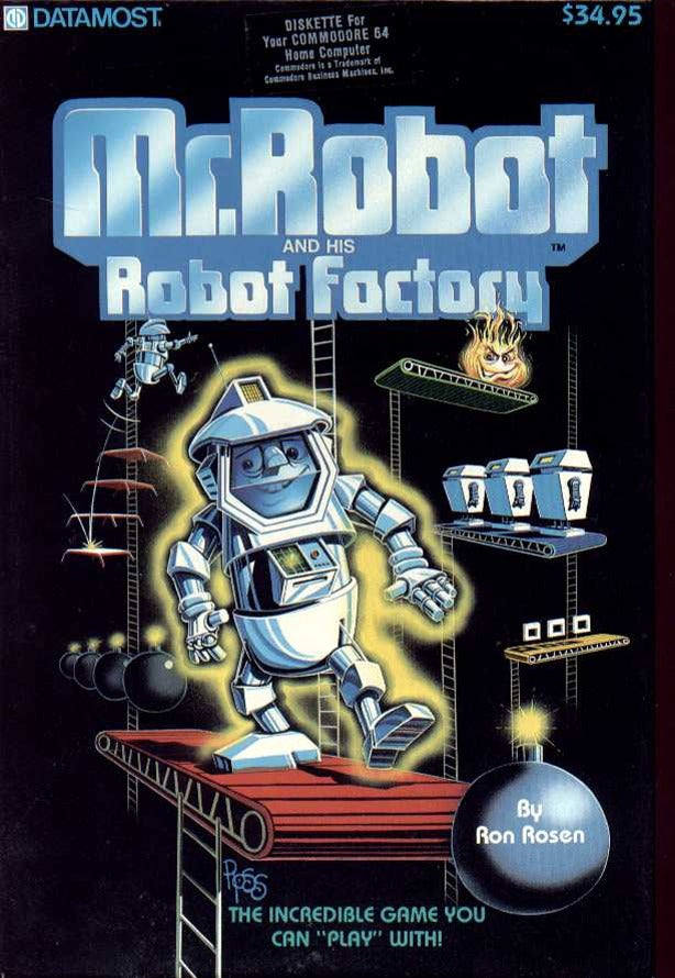 Mr. Robot and his Robot Factory - Commodore 64 | Retro1UP Game