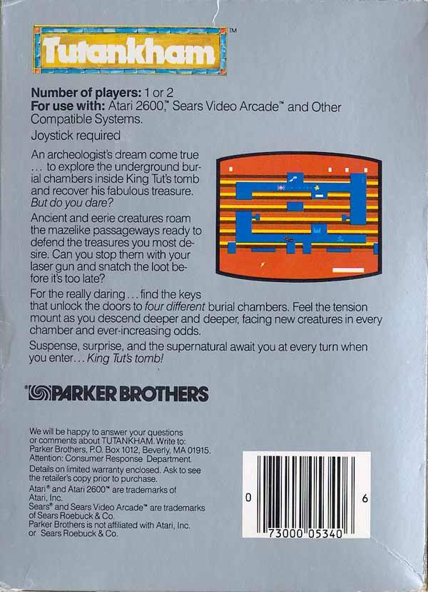 Tutankham - Atari 2600 | Retro1UP Game