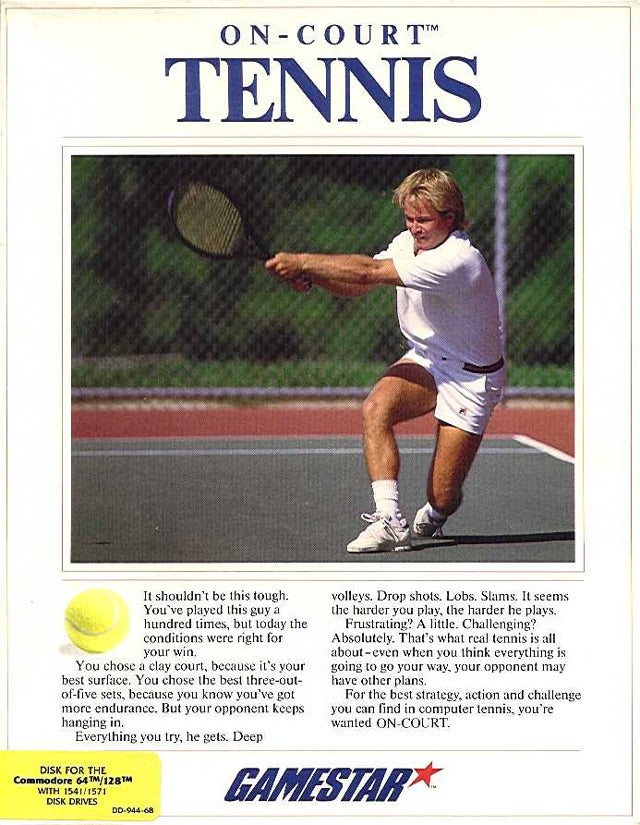 On Court Tennis - Commodore 64 | Retro1UP Game