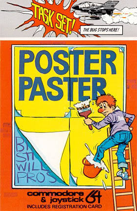 Poster Paster - Commodore 64 | Retro1UP Game