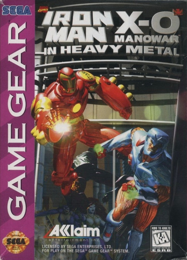 Iron Man / X-O Manowar in Heavy Metal - GameGear | Retro1UP Game