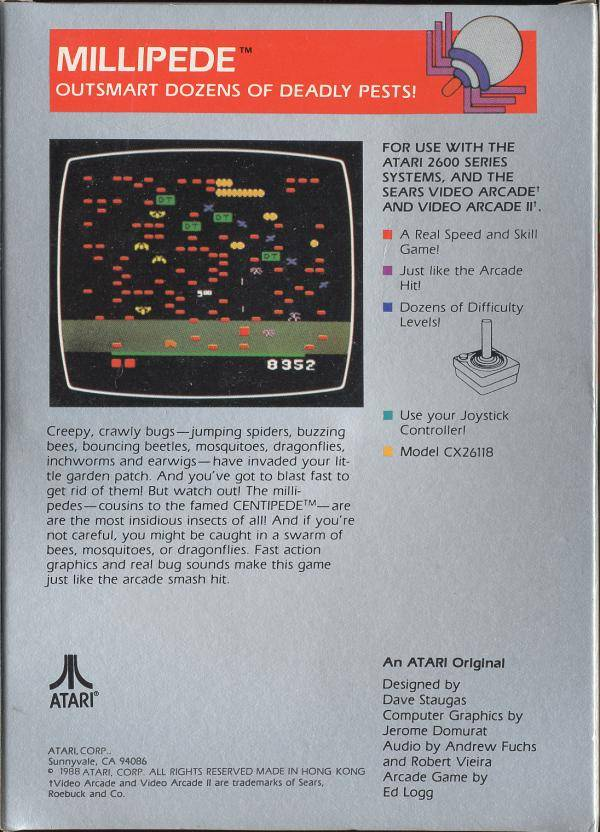 Millipede - Atari 2600 | Retro1UP Game