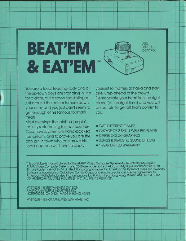 Beat 'Em & Eat 'Em - Atari 2600 | Retro1UP Game