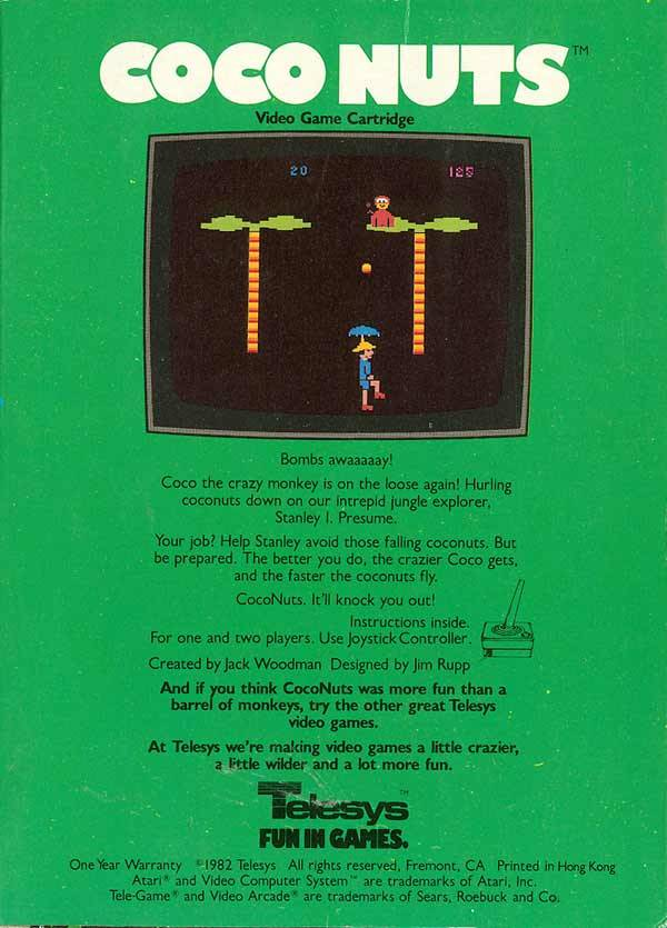 Coconuts - Atari 2600 | Retro1UP Game