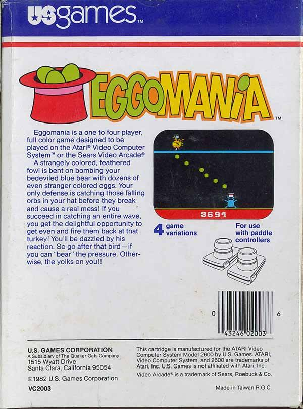 Eggomania - Atari 2600 | Retro1UP Game