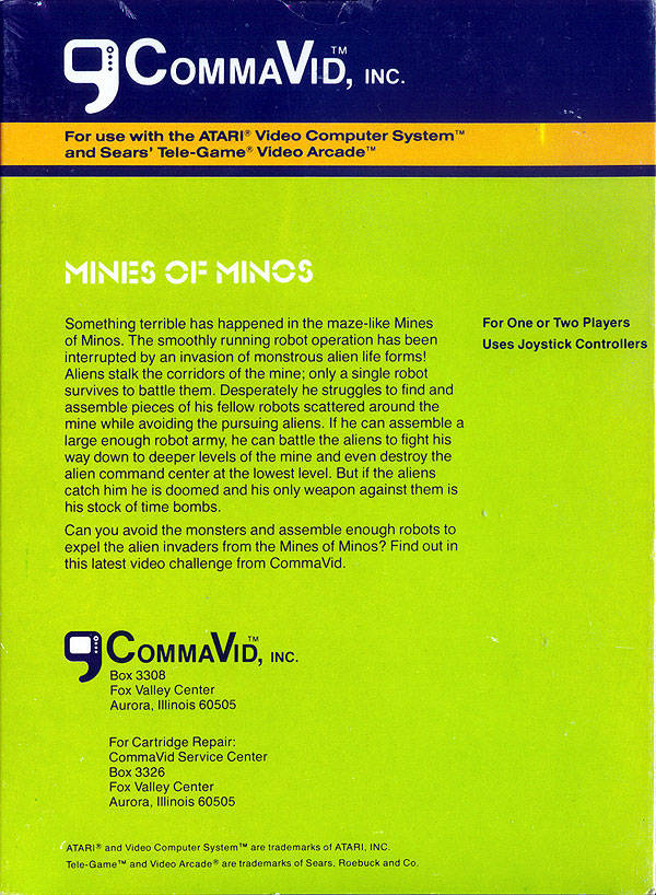 Mines of Minos - Atari 2600 | Retro1UP Game