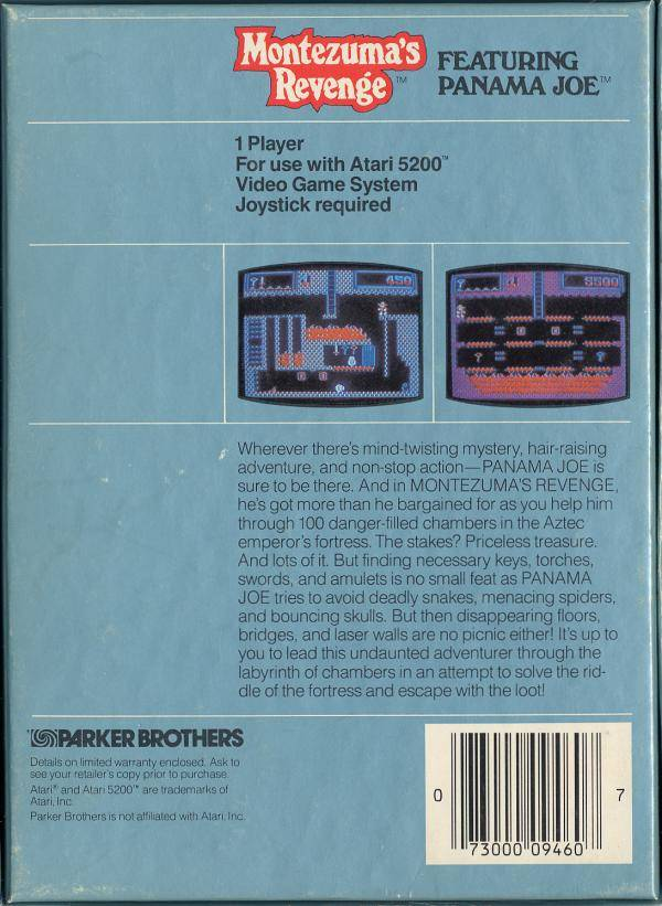 Montezuma's Revenge: Featuring Panama Joe - Atari 5200 | Retro1UP Game