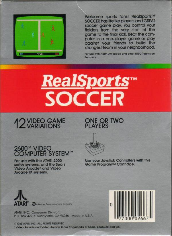 RealSports Soccer - Atari 2600 | Retro1UP Game