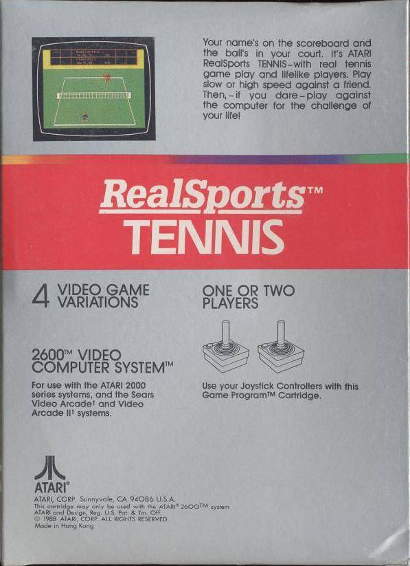 RealSports Tennis - Atari 2600 | Retro1UP Game