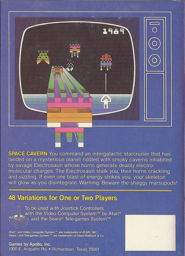 Space Cavern - Atari 2600 | Retro1UP Game
