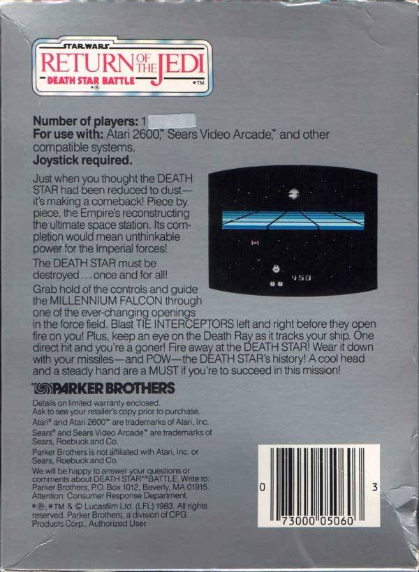 Star Wars: Return of The Jedi - Death Star Battle - Atari 2600 | Retro1UP Game