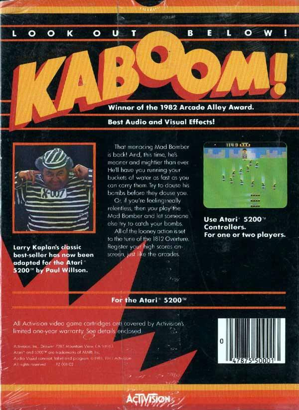 Kaboom! - Atari 5200 | Retro1UP Game