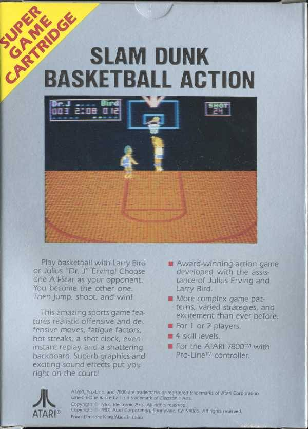 One-on-One Basketball - Atari 7800 | Retro1UP Game