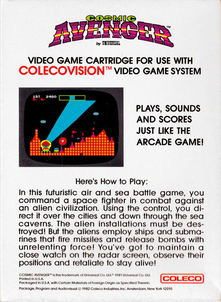 Cosmic Avenger - Colecovision | Retro1UP Game