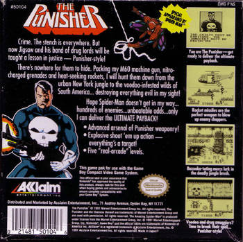 The Punisher: The Ultimate Payback - Game Boy | Retro1UP Game