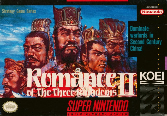 Romance of the Three Kingdoms II - Super Nintendo | Retro1UP Game