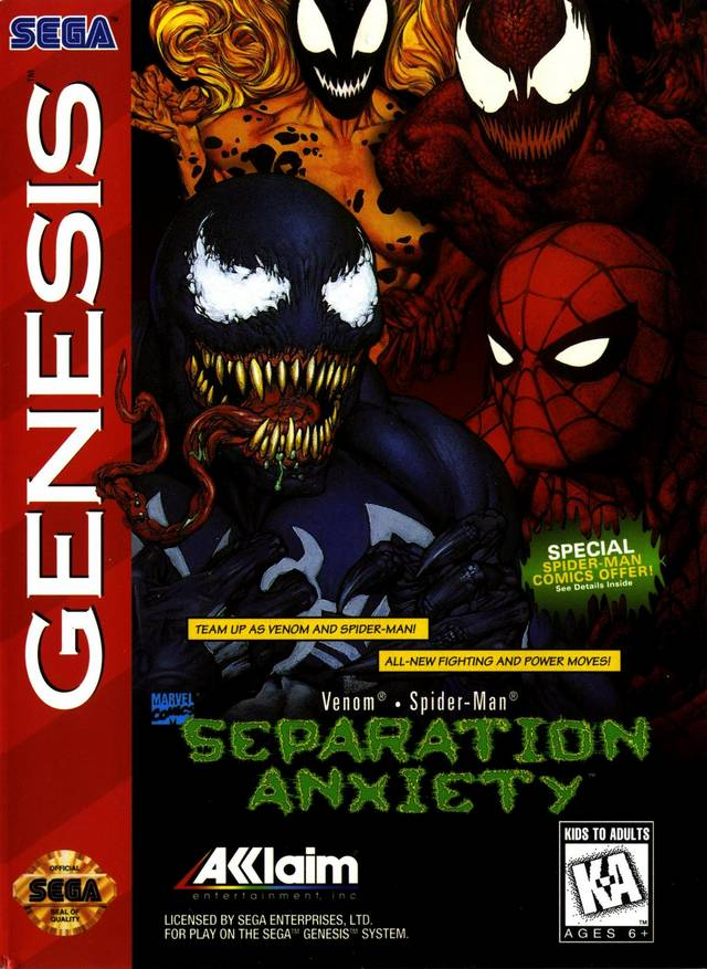 Venom - Spider-Man: Separation Anxiety - Genesis | Retro1UP Game
