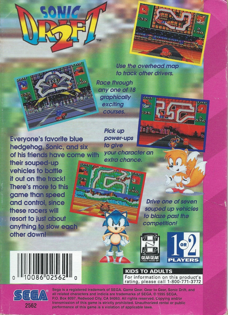 Sonic Drift 2 - GameGear | Retro1UP Game