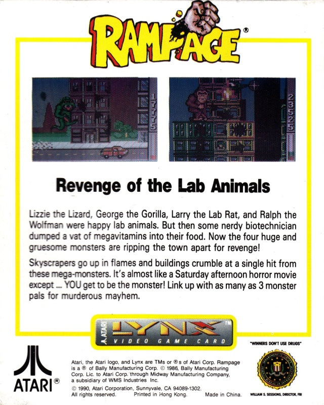 Rampage - Lynx | Retro1UP Game