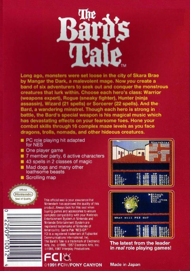 The Bard's Tale - NES | Retro1UP Game