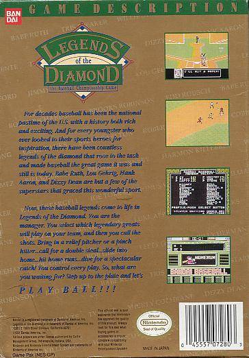 Legends of the Diamond: The Baseball Championship Game - NES | Retro1UP Game