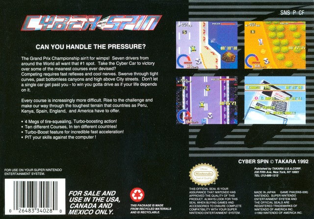 Cyber Spin - Super Nintendo | Retro1UP Game