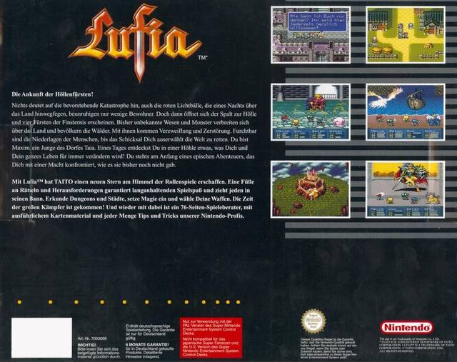 Lufia II: Rise of the Sinistrals - Super Nintendo | Retro1UP Game