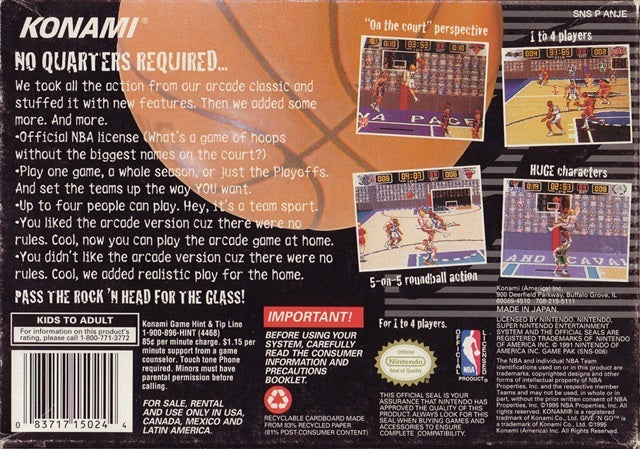 NBA Give 'N Go - Super Nintendo | Retro1UP Game