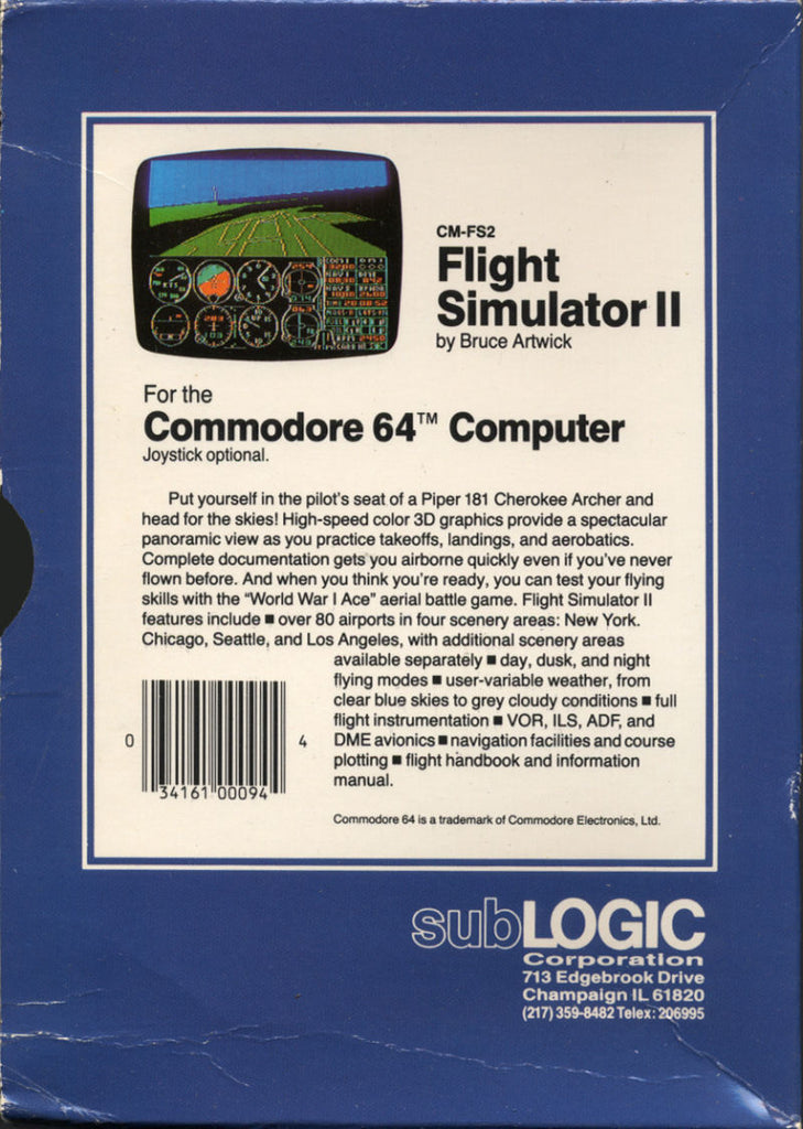 Flight Simulator II - Commodore 64 | Retro1UP Game